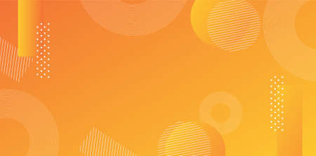 Orange yellow gradient background vector layout