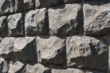 Gray granite wall on sun Stock fotó - 7406409