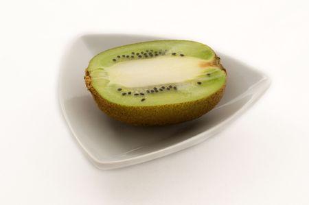 Kiwi on plate