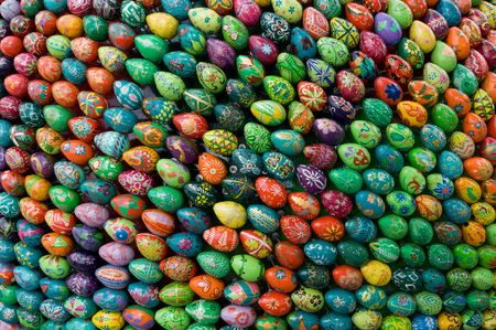 Easter eggs are manufactured in different regions of Ukraine Stock Photo