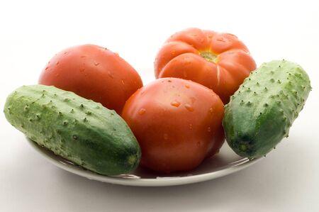 cucumbers: Tomatos and cucumbers