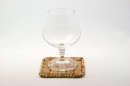 An empty brandy glass Stock Photo - 7427385