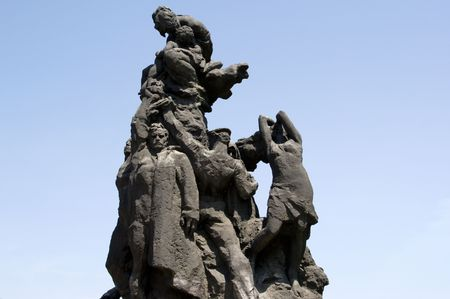 Monument at the shooting of Jews during the Second World War in Kyiv, Babiy Yar Imagens