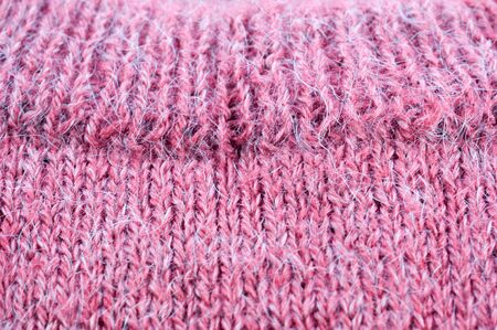 Manual knitting products from lilac woolen yarns closeup Stok Fotoğraf