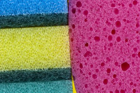 material: Color texture background from synthetic materials close-up