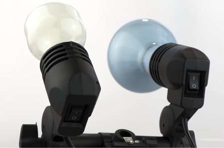 Electric incandescent lamp cartridges close-up