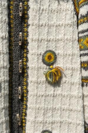 Fragment of traditional Ukrainian clothing closeup