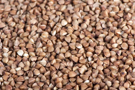 Background of buckwheat cleared close up Stock Photo