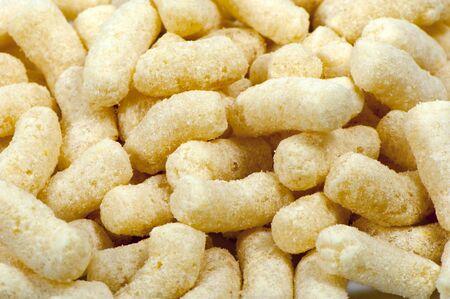 Corn sticks, dried foam, made from specially prepared corn groats Zdjęcie Seryjne