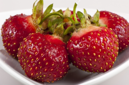 Ripe sweet bright red strawberries photo