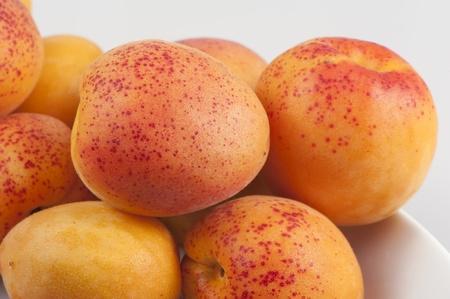 Bright yellow sweet ripe apricots close up Stok Fotoğraf