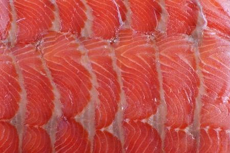 Smoked trout filet brightly lit close up Фото со стока