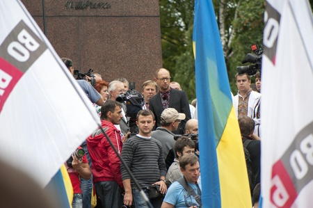 Opposition rally in independence day of Ukraine in Kiev, August 24, 2013 Editöryel