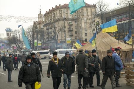 riots: Riots in the Khreschatyk Street in Kiev, December 17, 2013 during the political crisis in Ukraine
