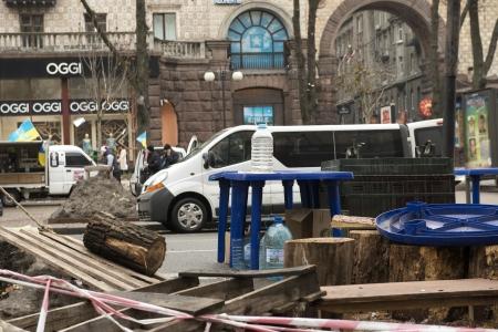 Riots in the Khreschatyk Street in Kiev, December 17, 2013 during the political crisis in Ukraine