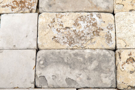 civilized: Facing the building material of the close up, the stone background