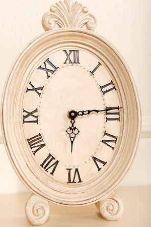 mantel: Old mantel clock show time 6 hours 15 minutes
