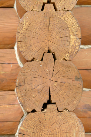Background of light wooden structure treated closeup Stock Photo