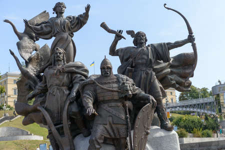 barricades: Sculptural Group on Independence Maidan in Kiev after the dismantling of the barricades August 26, 2014 Editorial