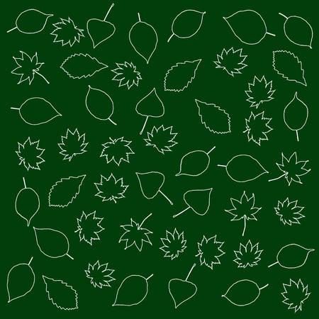 substrate: Hojas estilizadas en un fondo del sustrato verde Vectores