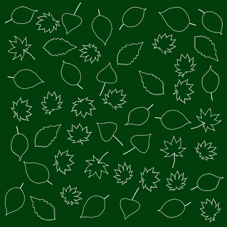 substrate: Stylized leaves on a background of green substrate Illustration