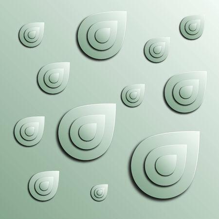明るい緑の背景、イラストの様式化された抽象的な blob  イラスト・ベクター素材