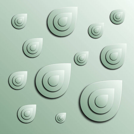 Stylized abstract blobs on a light green background, illustration