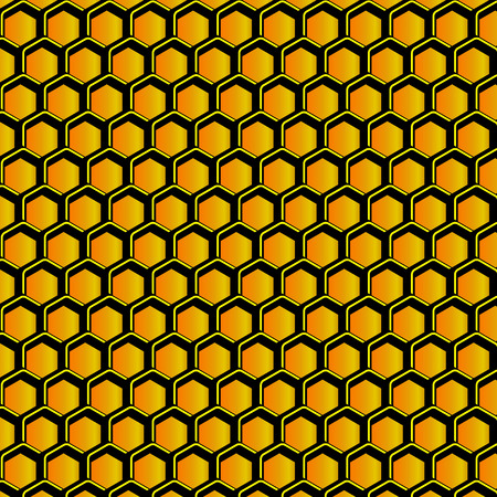 Stylized honeycomb with honey, vector illustration Ilustracja
