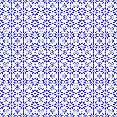파란색 배경 별 추상 원활한 패턴
