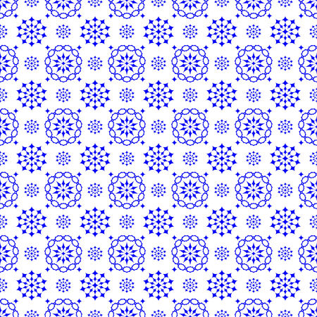 Abstract seamless pattern of stars on a blue background