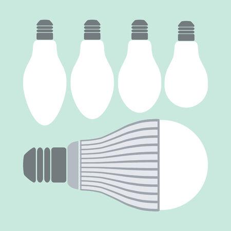 iluminacion led: Comparativa de iluminaci�n vida llev� y l�mparas incandescentes convencionales