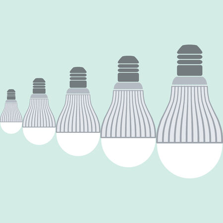 led: Schedule of consumption led bulbs in the world Illustration
