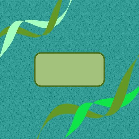 텍스트를위한 공간이있는 녹색 음영의 표지 디자인 일러스트