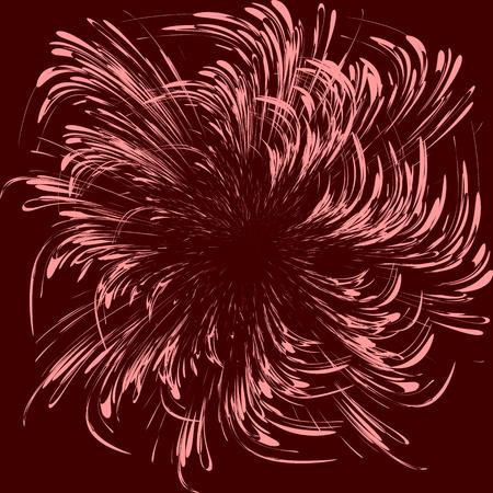宇宙の動きを象徴する赤の背景に抽象的なベクトル グラフィック