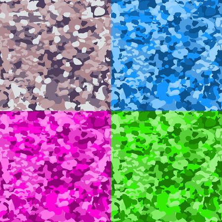 joyous: Set of colorful seamless marble backgrounds Illustration