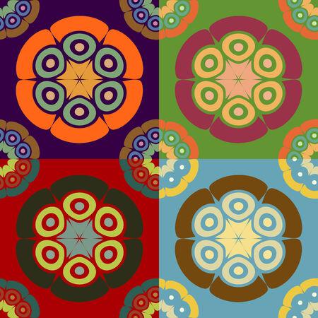기하학적 모양의 추상 다채로운 원활한 벡터 패턴의 집합 스톡 콘텐츠 - 35176813