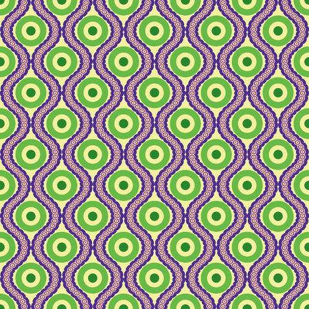 원을 기반으로 추상 다채로운 원활한 벡터 패턴 일러스트