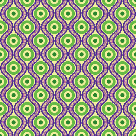 associative: Abstract colorful seamless vector pattern based on a circle
