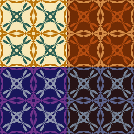 Set of abstract seamless colorful backgrounds