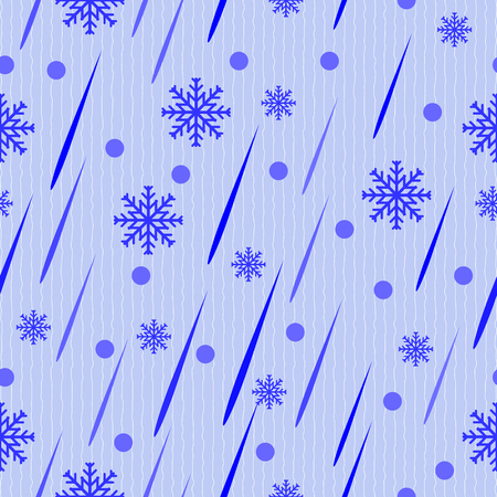 Seamless vector pattern drops of rain and snow
