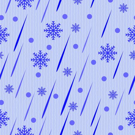 hush hush: Seamless vector pattern drops of rain and snow