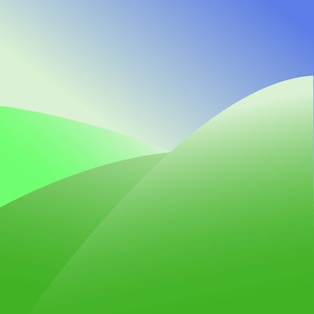 green hills: Abstract vector graphic green hills on the background of the blue sky