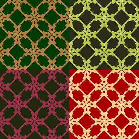 기하학적 모양, 벡터 그래픽으로 이루어진 원활한 다채로운 패턴