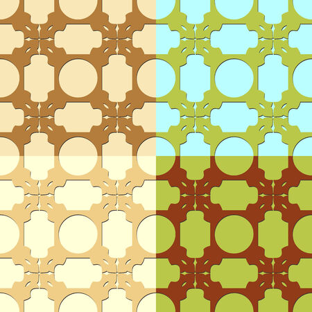 screen savers: Seamless colorful patterns composed of geometric shapes, vector graphics