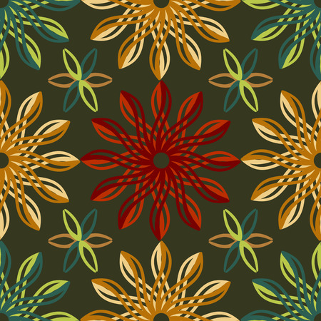 fantastical: Abstract seamless background of fantastical flowers Illustration