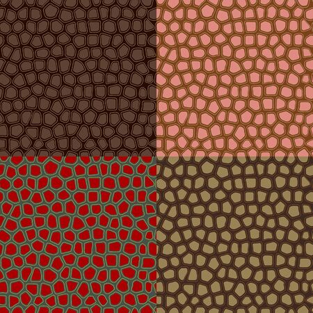 Set of colored abstract seamless backgrounds, imitating the structure of the skin Stok Fotoğraf - 35995114