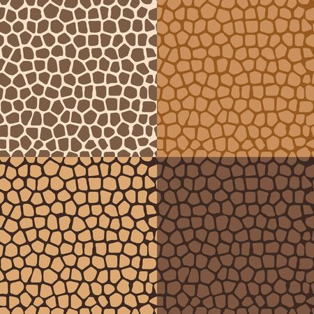 Set of colored abstract seamless backgrounds, imitating the structure of the skin Stok Fotoğraf - 35995115