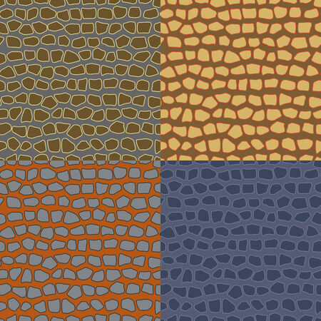 discreet: Set of colored abstract seamless backgrounds, imitating the structure of the stone wall