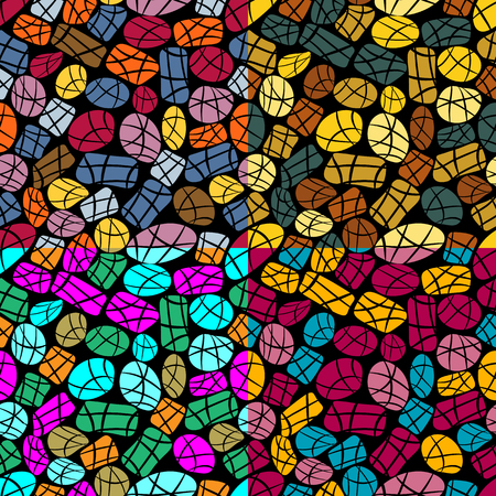Abstract seamless vector background with irregular colored geometric shapes