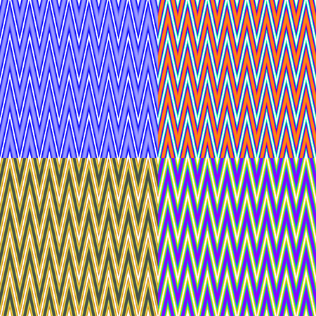screen savers: Set of seamless color patterns with abstract polylines Illustration